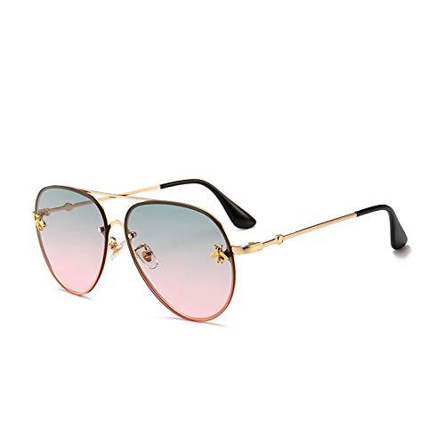 NJJX Gafas De Sol De Abeja Pequeñas De Moda Para Mujer, Gafas Con Remaches Coloridos, Gafas De Viaje Al Aire Libre Para Mujer, Fotocromáticas