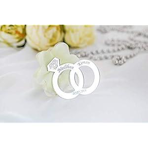 20 x Gastgeschenk Plexi Trauring personalisiert – Geschenke für Gäste – Hochzeitsgeschenke, Verlobungsgeschenke