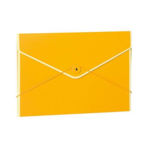 Semikolon (353189) Kuvertmappe mit Gummiverschluss sun (gelb) - Stabile Sammelmappe passend für A4 Formate u. US Letter Size - 33,0 × 22,8 cm