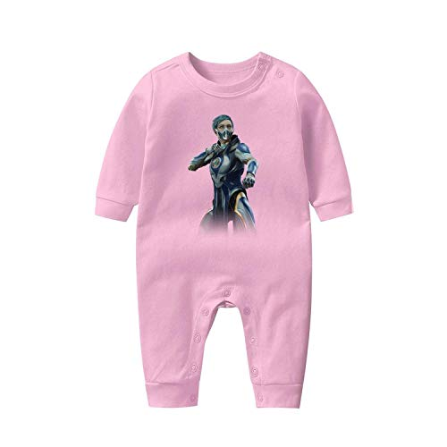 Infant Boys Onesies 100% Cotton Bodysuits Mortal-Kombat-11-Frost-character- Stylish Long Sleeve Bodysuit