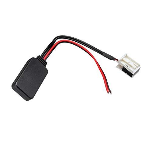 QWHK Store Ajuste para Peugeot 207 307 407 308 FIT FOR para Citroen C2 C3 RD4 Coche 12pin Módulo Bluetooth Radio inalámbrico Estéreo AUX-IN AUX Cable Adaptador (Color Name : Black)