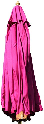 LHYLHY Sombrilla de jardín grande de madera dura - 3 5 m - 8 colores a elegir (rosa)