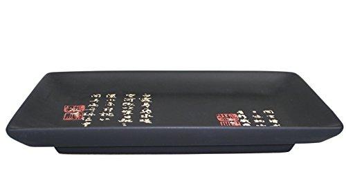 [ ZEIT SCHWARZ ] Essteller/Sushi-Teller 19,5 cm x 12,5 cm