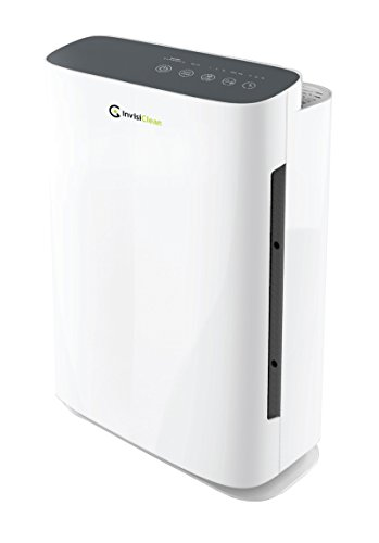 InvisiClean Aura Air Purifier - 4-in-1 True HEPA, Ionizer, Carbon + UV-C Sanitizer - Air Purifier for Allergies & Pets, Home, Large Rooms, Smokers, Dust, Mold, Allergens, Odor Elimination, Germs