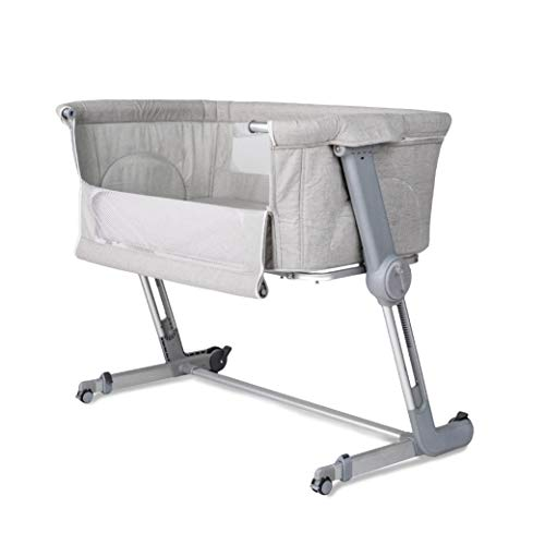 Unilove Hug Me Plus, Bedside Sleeper, Baby Bassinet, Portable Crib Includes Travel Bag, 1.2' Firm Mattress, Breathable Sheet and 7 Height Adjustable, Shadow Grey
