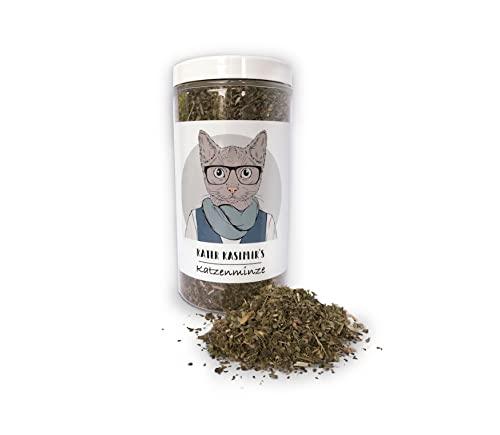 Hierba gatera (para Gatos/Catnip) Hace a su Gato Feliz. Paquete XXL de 60g Solo la Mejor Hierba gatera para su pequeño Amor (Seca y en pequeños Trazos).