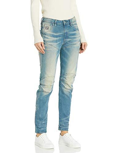 G-Star Damen 5620 3D Low Boyfriend Jeans, Blau (light aged), 26/32