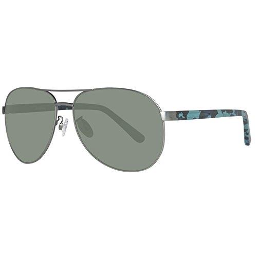 Timberland Sonnenbrille TB9086 6209D Gafas de sol, Plateado (Gunmetal), 62 para Hombre