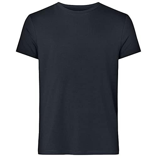 Resteröds T-Shirt aus Bambus und ökologischer Baumwolle für Herren, lang, Rundhals, halbarm Shirts für Männer, Marine, M