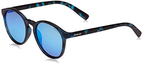 Polaroid Polaroid Unisex-Kinder PLD 8024/S 5X Jbw 47 Sonnenbrille, Blau (Blute Havana/Grey Blue)