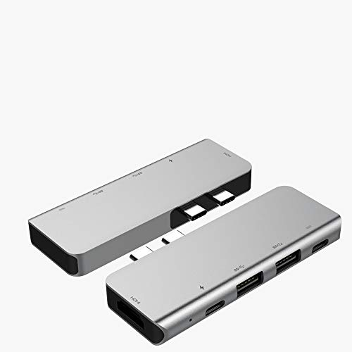 5 in 1 Type-C USB-C Hub Adapter,USB C Hub USB Accessories,Dual USB 3.0 Port-Y02
