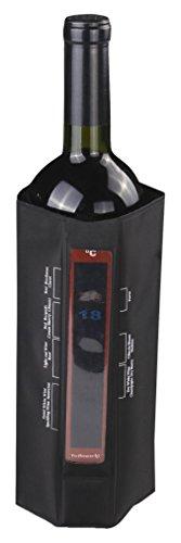 Vin Bouquet FIE 108 - Funda enfriadora con Termómetro de Velcro, Cubierta Enfriadora Gel, Velcro Ajustable, Ideal para Conservar el Vino