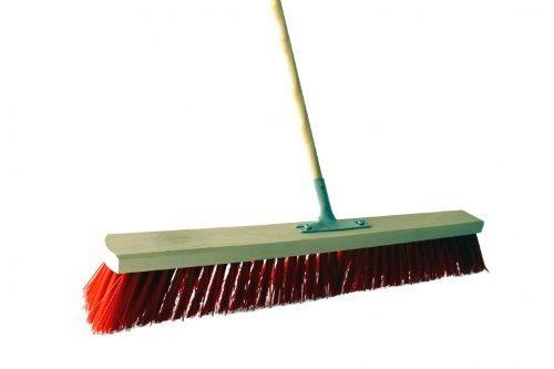 spazzola manico di scopa 60 cm con metallstielhalterung PVC (elaston Rosso) COMPRESO 1,40 m gambo