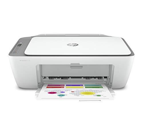 HP DeskJet 2720 - Impresora multifunción, Wi-Fi de Doble Banda con restablecimiento automático y Bluetooth 4.2, Gris, 425 x 304 x 154
