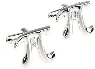 Gemelolandia | - Gemelos matematico simbolo pi, color acero Gemelos Originales Para Camisas | Para Hombres y Niños | Regal...