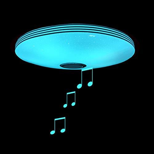 40Cm Badezimmer Musik Deckenleuchte, IP65 Wasserdichte RGB Farbwechsel, Bluetooth Lautsprecher Deckenlampe, App & Fernbedienung, Sternenhimmel Lampenschirm Für Küche, Schlafzimmer, Party,40cm100w