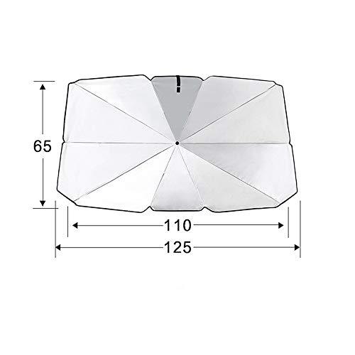 Diverse Parabrisas De Un Automóvil Bloque Parasol Protector Solar UV Visera, Ventana Parasol Delantero, Parabrisas Plegable Sombrilla Del Coche robusto (Size : Trumpet)