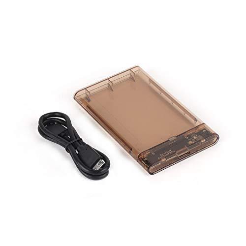 Swiftswan Tragbare 2,5-Zoll-USB 3.0 SATA HD-Festplattenbox Externe Festplattenbox Transparente Box Tool Free 5 Gbit/s