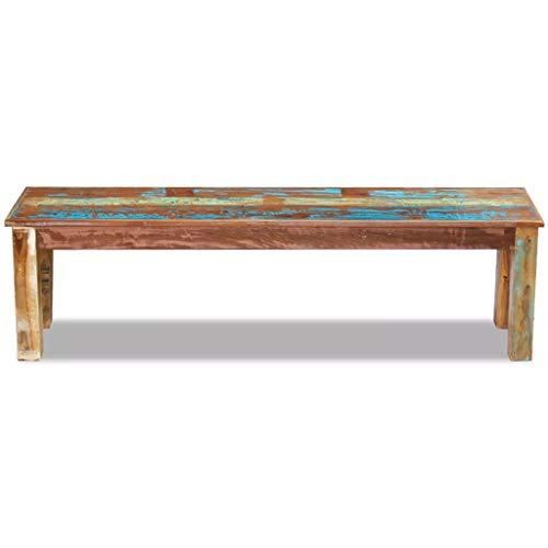 Tidyard Vintage Wood Bench, Antique Handmade Dining Room Bench Solid Reclaimed Wood
