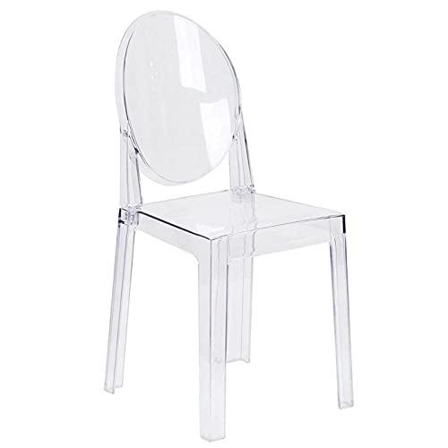 NICEDINING Silla de Comedor Transparente de 4pcs Ghost Clear Silla de Comedor de plástico Transparente/sillón de vanismo (Color : Transparent)