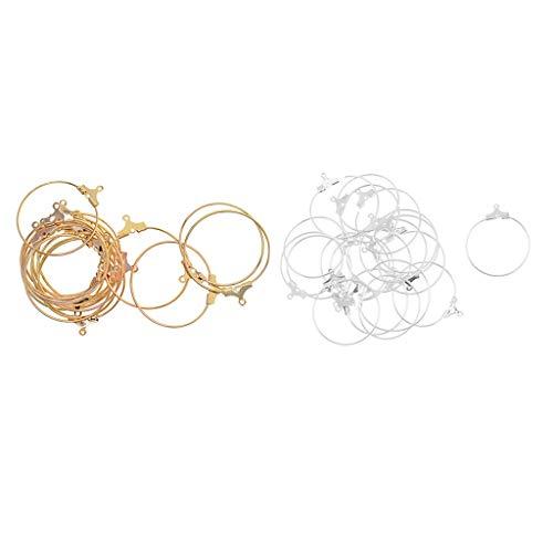 Colcolo 40 Piece Pearl Earrings Set for Women Stainless Steel Hoop Earrings Huggie Hoop Earrings
