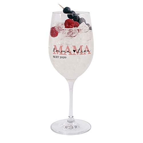 Herz & Heim® Weinglas für Mama mit Aufdruck - Glasqualität von Leonardo - Muttertagsgeschenk