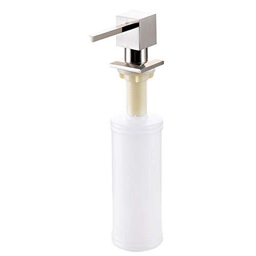 Dispensador de jabón 300ml Opacas Fregadero jabón Detergentes - Acero Inoxidable loción...