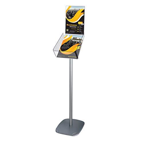 Display Sales - Expositor de folletos (tamaño DIN A4, incluye soporte para carteles superiores)