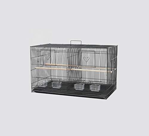 Space- rack Z-W-Dong Animaux Noir Elevage Boîtes, Fer Forgé Résistance à la Corrosion Rust Cages Parrot Métal Cages 2 Tailles Oiseaux/Cages à Oiseaux (Color : A, Size : 60 * 41 * 42CM)