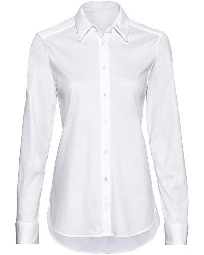 van Laack Langarm-Bluse Moby Weiß 36