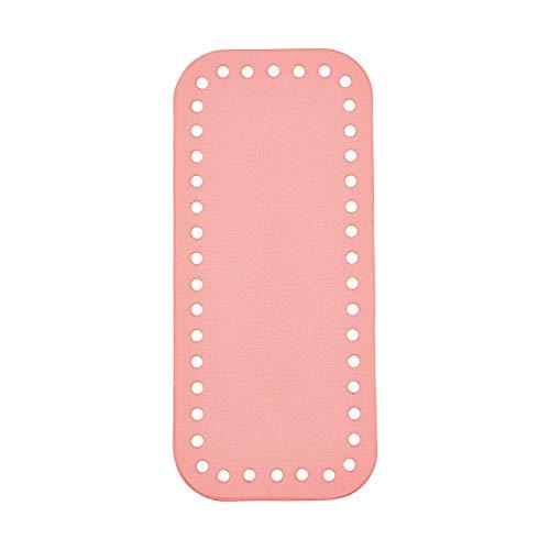 CHGCRAFT 2pcs PU cuero rectángulo largo bolsa inferior Shaper Crochet Bolsas Nail Bottom Shaper Pad para hacer punto bolso DIY hombro Crossbody Bolsos Accesorios, 7×3×0.16 pulgadas rosa