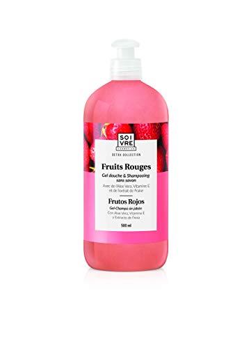 Gel douche & shampooing sans savon 500ml - Extra doux (Fruits rouges)