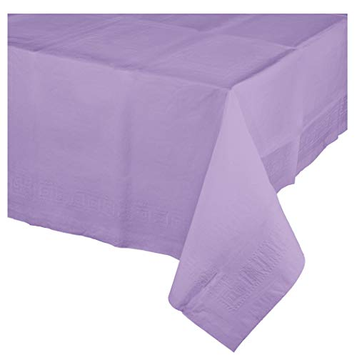 Luscious Lavender Paper Tablecloths, 3 ct