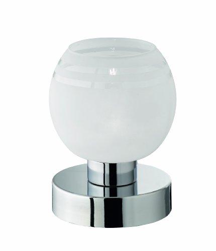 Reality Leuchten Tischleuchte Ahoi, Metall, Chrom, Glas opal matt weiß, R59411101