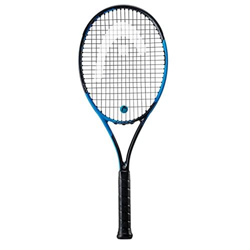 Raquetas Tenis Tenis para Adultos Tenis para Hombre Azul Carbón Conjunto Individual para Niños, Hombres Y Mujeres (Color : Black Blue, Size : 69cm/27 Inches)
