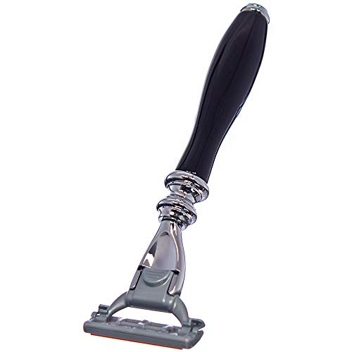 La Maison du Barbier - Afeitadora retro negra con hoja – 100% fabricada en Francia