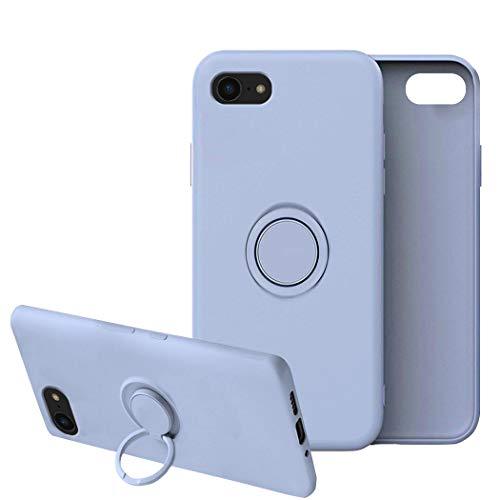 Funda para iPhone 8/8 Plus Apple Case,Fundas iPhone 8/8 Plus Silicona Antigolpes Carcasa Gel de sílice líquido Compatible con Posterior Magnético Iman (iPhone 8, Azul)