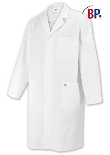 BP 1619-130-21-52n Mantel für Männer, Langarm, Kragen mit Aufschlag, 205,00 g/m² Reine Baumwolle, weiß ,52n