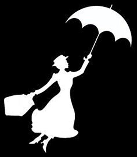 Mary Poppins Sticker Decal van Supersticki® zonder achtergrond / afmetingen in