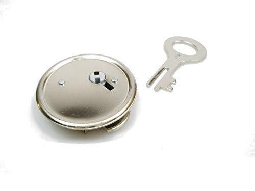 Metall Sparschwein-Schloß inkl. Schlüssel - Made in Germany - Rand 42 mm Ø