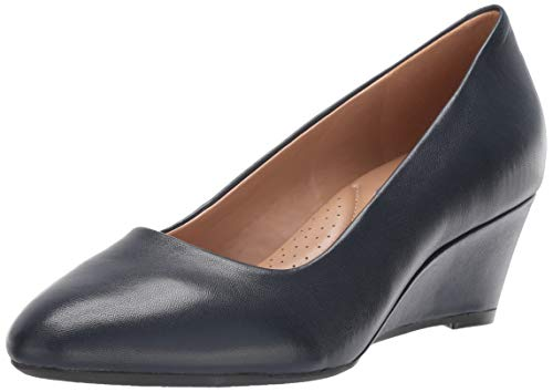 Aerosoles womens Inner Circle Pump, Navy Leather, 9.5 US