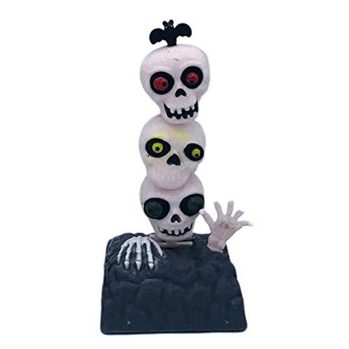 Halloween Solar Wackel Figur Solarbetriebene Tanz Swinging Spielzeug Solarbetriebene Tanzpuppen Skeleton Ghost Für Auto Desktop Zuhause Büro Swinging Skull Autodekoration Cartoon Car Doll
