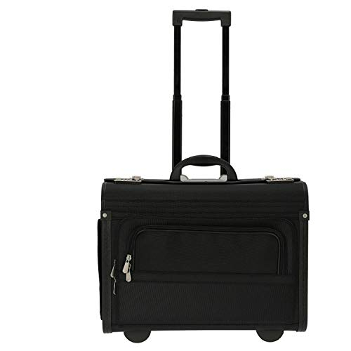 Dermata valigetta a ruote 46 cm compartimenti portatile