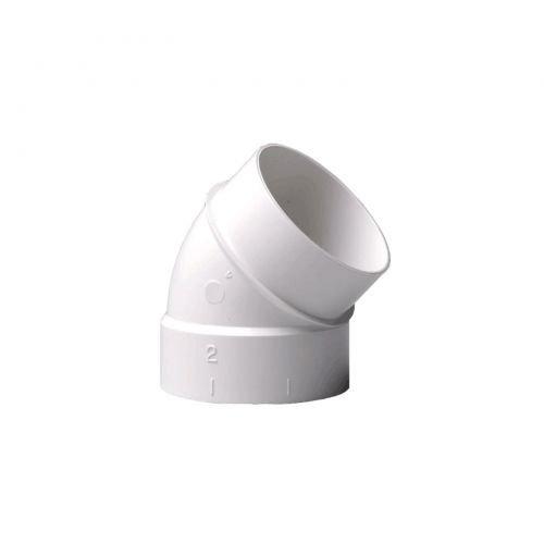 Bogen 45° Spigot für Zentralstaubsauger Vakuumrohrsystem, 2-Zoll (50,8mm)