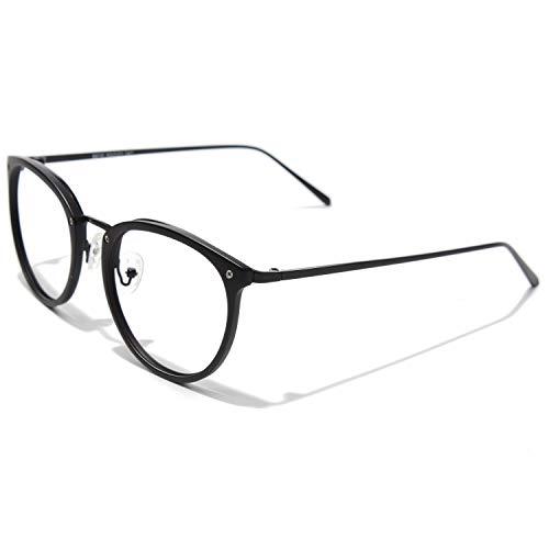CGID Rundes Brillengestell TR90 Metallrahmen Oversized Brille für Damen und Herren