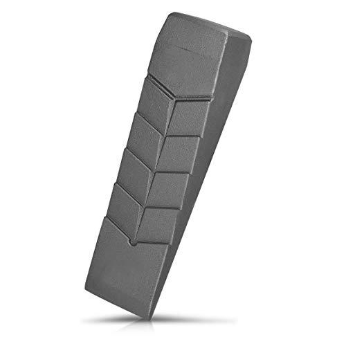 Navaris Cuña de Aluminio para Partir leña - Ayuda para Cortar Madera para Hoguera - Herramienta de Metal para Partir Troncos Grandes - XXL (2KG)