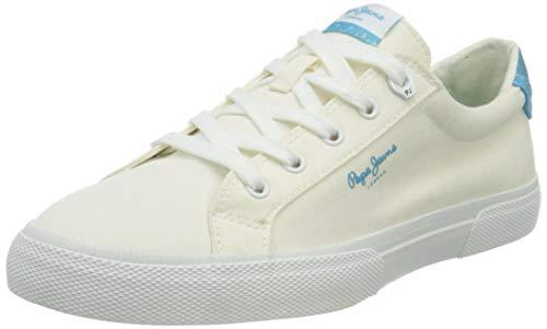 Pepe Jeans Kenton Bass, Zapatillas Mujer, 800 Blanco, 39 EU