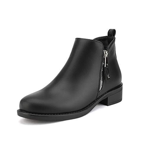 DREAM PAIRS Women's Black Pu Low Heel Ankle Booties Size 11 B(M) US Isabella-1