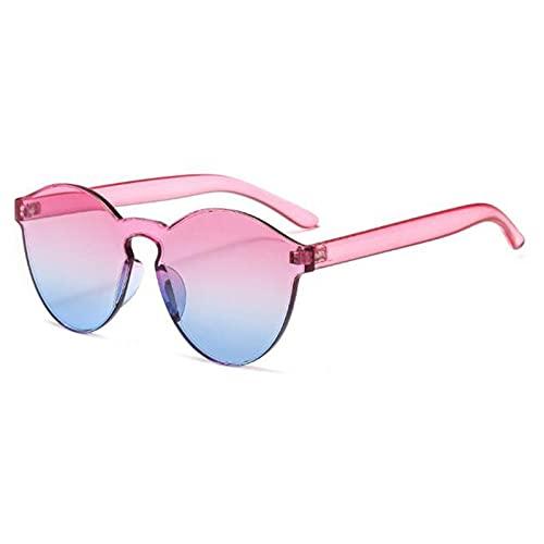 WQZYY&ASDCD Gafas de Sol Gafas De Sol Gruesas Sin Montura para Mujer, Lentes De Color Oceánico, Gafas De Sol para Mujer, Sexis, Transparentes, Uv400-Fotocromáticas