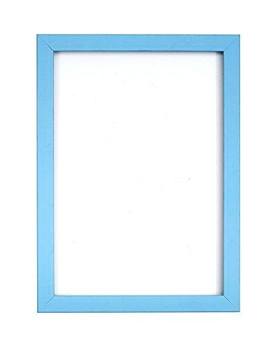 Regenbogenfarbiger Bilderrahmen/Foto-/Posterrahmen -mit Rück MDF - mit Plexiglasblatte - Hellblau - 22,9 x 17,8 cm